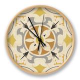 Gray Glow Square XVI Horloge par  Pela