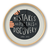 Mistakes Are Portals Of Discovery Clock