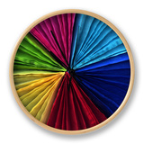 Colorful Fans Clock by Magda Indigo