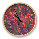 Summer Sun and Coastal Flowers, California Coast Clock by Vincent James