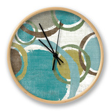 Vintage Bubbles II Clock by Moira Hershey