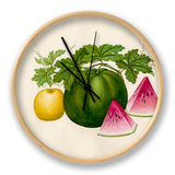Citrullus lanatus, Cucumis melo Clock by  Wang Lui Chi