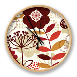 Floral Pop I Clock by Mo Mullan