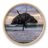 Sunset at Face Rock, Bandon Beach, Oregon Coast Clock by Vincent James