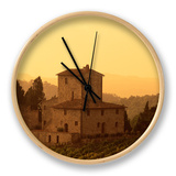 Farms and Vines, Tuscany, Italy Clock by J Lightfoot