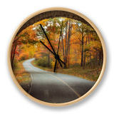 Autumn Tunnel Vision Clock by Vincent James