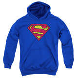Youth Hoodie: Superman - Classic Logo Pullover Hoodie