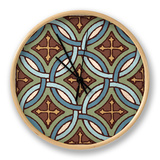 Tile Pattern IV Clock by N. Harbick