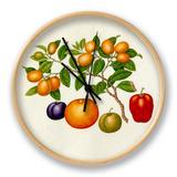 Fortunella margarita, Annona reticulata, Prunus domestica, Citrus sinensis Clock by  Wang Lui Chi