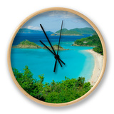 Trunk Bay, St. John, U.S. Virgin Islands, Caribbean, West Indies, Central America Clock by Fred Friberg