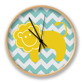 Chevron Lion Clock by N. Harbick