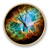 Crab Nebula Text Space Photo Art Poster Print Orologio