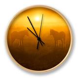 Golden Foals Clock by Adrian Campfield