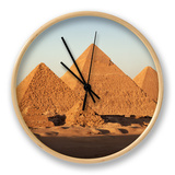 Pyramids at Sunset, Giza, Unesco World Heritage Site, Near Cairo, Egypt, North Africa, Africa Clock by Doug Traverso