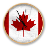 Canada Flag Distressed Art Print Poster Ur