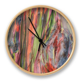 Rainbow Eucalyptus Detail, Hawaii Clock by Vincent James