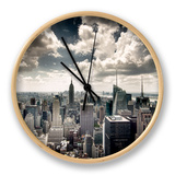 View of Manhattan, New York Clock by Steve Kelley