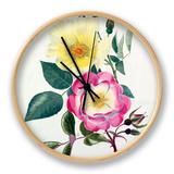 Rosa Golden Wings, Rosa Erfurt Clock by Graham Stuart Thomas