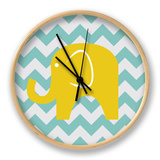 Chevron Elephant Clock by N. Harbick