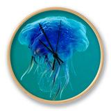 Blue Jellyfish (Cyanea Lamarckii), Feeding on Small Plankton, Lundy Island, Devon, UK Ur af Linda Pitkin