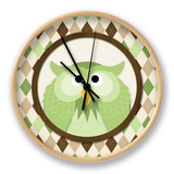 O Is for Owl III Clock by N. Harbick