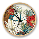 Contemporary Garden I Clock by Mo Mullan