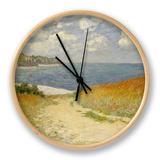Chemin dans les blés à Pourville, 1882 Horloge par Claude Monet