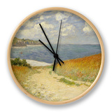 Path in the Wheat at Pourville, 1882 Clock by Claude Monet