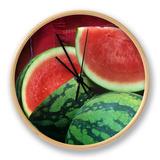 Seedless Watermelon, Deuce of Hearts Hybrid Triploid Variety Clock by David Cavagnaro