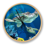 Sea Turtle Swimming Clock by  Lantern Press