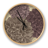 Dahlia II Clock by N. Harbick