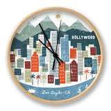 Colorful Los Angeles Clock by Michael Mullan
