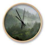 Rainy Hills, California Coast Clock by Vincent James