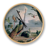 Palace of Amsterdam with Exotic Birds Clock by Melchior de Hondecoeter