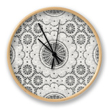 Elegance in Gray I Clock by N. Harbick
