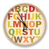 Alphabet (List) Art Poster Print Clock