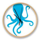 Blue Octopus Horloge par  Avalisa
