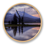 Stormy Reflection at Sparks Lake Clock by Vincent James