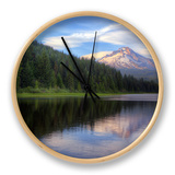 Mount Hood from Trillium Lake, Oregon Clock by Vincent James