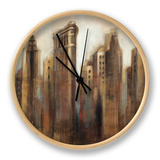 Flatiron Skyline Clock by Silvia Vassileva