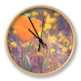 Retro Poppy Clock by Vincent James