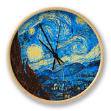 8-Bit Art the Starry Night Horloge