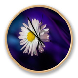 Blue Daisy Clock by Marco Carmassi