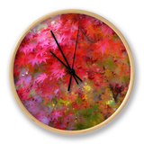 Autumn Japanese Maple Impressions Clock by Vincent James