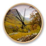 Glen Coe (Glencoe), Highlands Region, Scotland, UK, Europe Clock by John Miller