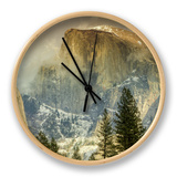Cloud Wisps at Half Dome, Yosemite Clock by Vincent James