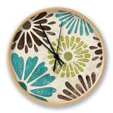 Stencil Flowers II Clock by N. Harbick