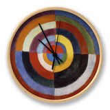 First Disc, 1912 Clock by Robert Delaunay