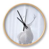 Red Deer (Cervus Elaphus) Stag in Pine Forest in Snow Blizzard, Cairngorms Np, Scotland, UK Ur af Peter Cairns