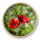 Poppies Friends Clock by Marco Carmassi